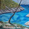 Mittelmeer, Südfrankreich, Felsbucht, Malerei