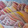 Berge, China, Bunte steinschichten, Malerei
