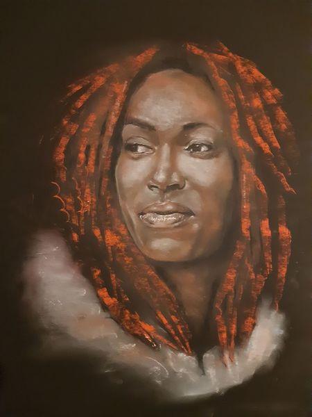 Frau, Pastellmalerei, Zeichnung, Zeichnungen