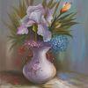 Blätter, Blumen, Sommer, Iris