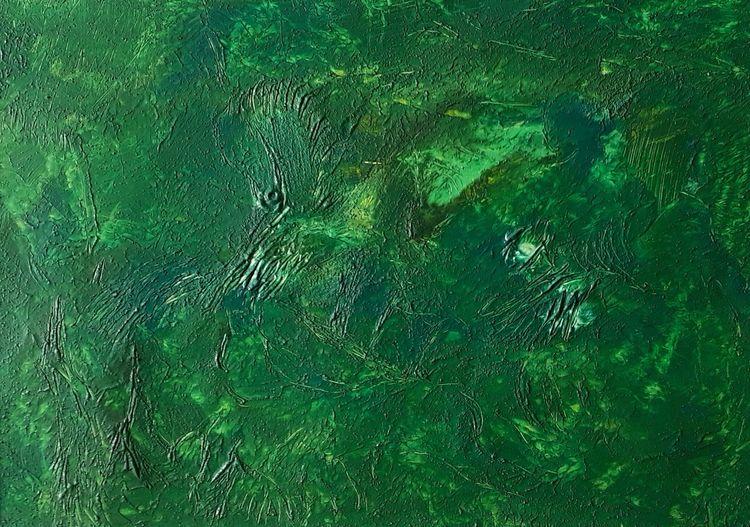 Farben, Urwald, Pflanzen, Acrylmalerei, Wald, Abstrakte malerei