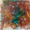 Abstrakt, Fluid painting, Kachel, Grün