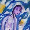 Frau, Meer, Malerei