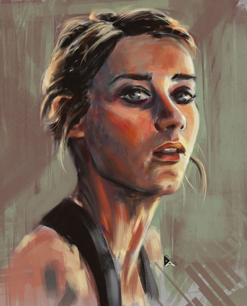 Skizze, Augen, Portrait, Digitale kunst