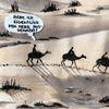 Kamel, Frage, Wüste, Gouachemalerei
