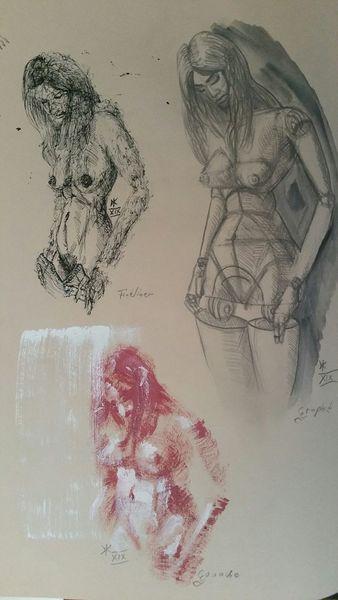 Menschen, Farben, Figur, Portrait, Zeichnungen,