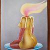 Akt, Flammen, Kerzen, Frauenkörper