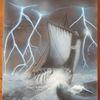 Langboot, Blitzen, Segelboot, Naturgewalt