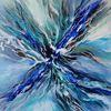 Wasser, Wasserwelten, Blau, Mischtechnik