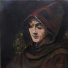 Acrylmalerei, Titus nach rembrandt, Portrait, Malerei