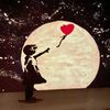 Banksy, Acrylmalerei, Leuchtfarbe, Malerei