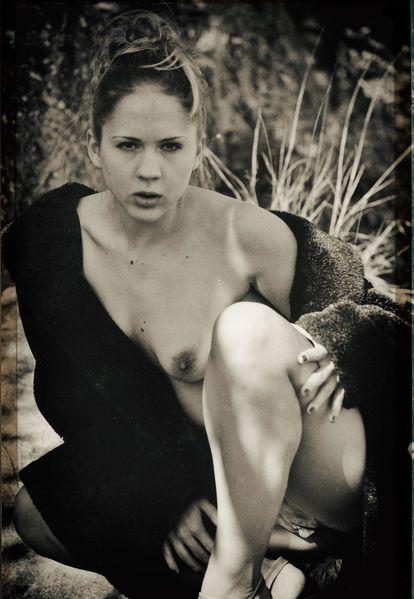 Modell, Akt, Vintage, Outdoor, Fotografie