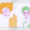 Figur, Gelb, Zeichnung, Zeichnungen