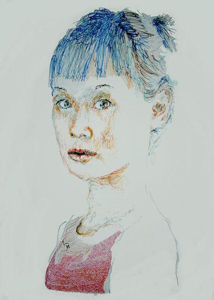 Farben, Portrait, Kopf, Zeichnungen
