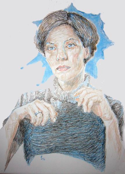 Farben, Kopf, Hände, Zeichnungen, Divers, Portrait