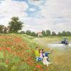 Radfahren, Ölmalerei, Appropriation art, Claude monet