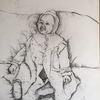 Altes aus, Fotokiste, Zeichnungen, Baby