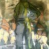 Gefangene, Pastellmalerei, Soldat, Malerei
