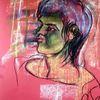 Wut, Grün, Pastellmalerei, Malerei