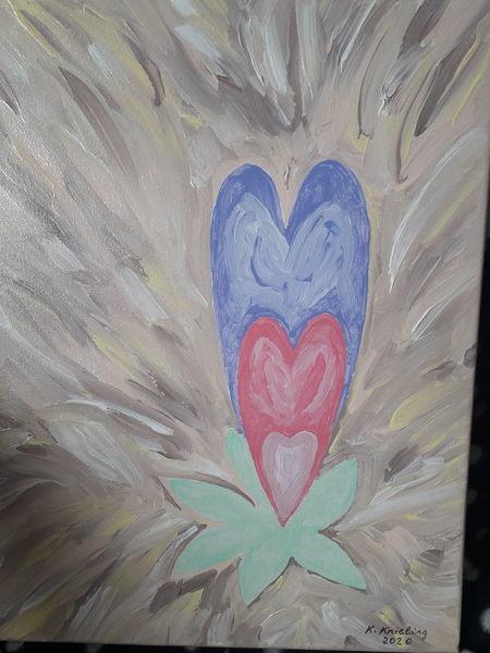 Fantasie, Herz, Pflanzen, Malerei