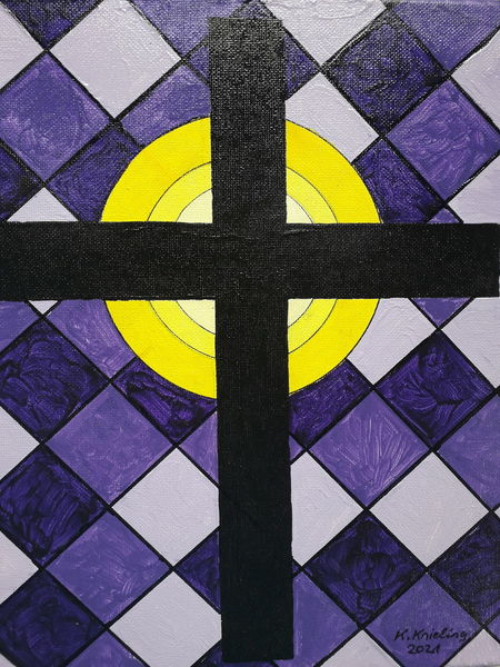 Erlleuchtung, Bunt, Kreuz, Malerei, Zeichen