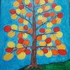 Baum, Ballon, Bunt, Malerei