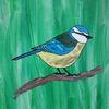 Vogel, Grün, Bunt, Malerei