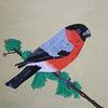 Vogel, Äste, Bunt, Malerei