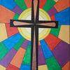 Kreuz, Bunt, Erleuchtung, Malerei