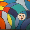 Bunt, Spaßgesicht, Farbmuster, Malerei