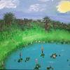Gewässer, Bunt, Malerei, Natur