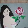 Rose, Bunt, Frau, Malerei