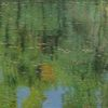 Spiegelung, Landschaft, Wasser, Ölmalerei