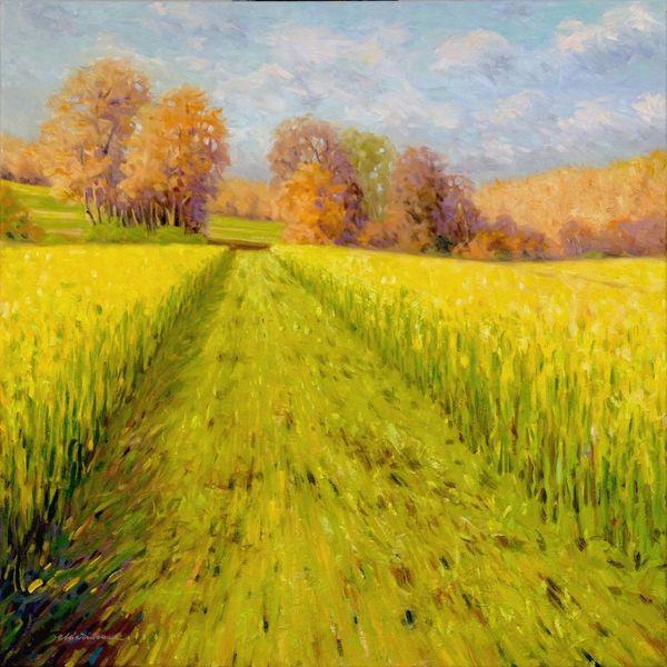 Impressionismus, Ölmalerei, Malerei, Herbst, Landschaft malerei, Natur