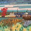 Gras, Himmel, Fischerfahnen, Fischerboot
