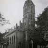 Kirche, Dorf, Malerei marcel heinze, Zeichnung