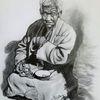 Asien, Bettler, Malerei marcel heinze, Buddhismus