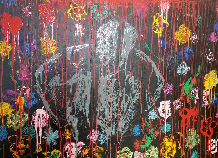 Blumen, Gestalt, Imaginäre gitter, Malerei, Hoffnung