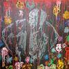 Blumen, Gestalt, Imaginäre gitter, Malerei