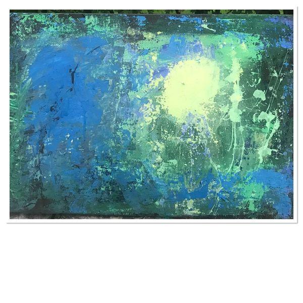 Abstrakt, Blau, Farbstudie, Grün, Struktur, Licht