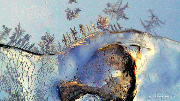 Irreal, Kälte, Farben, Eis, Licht, Himmel