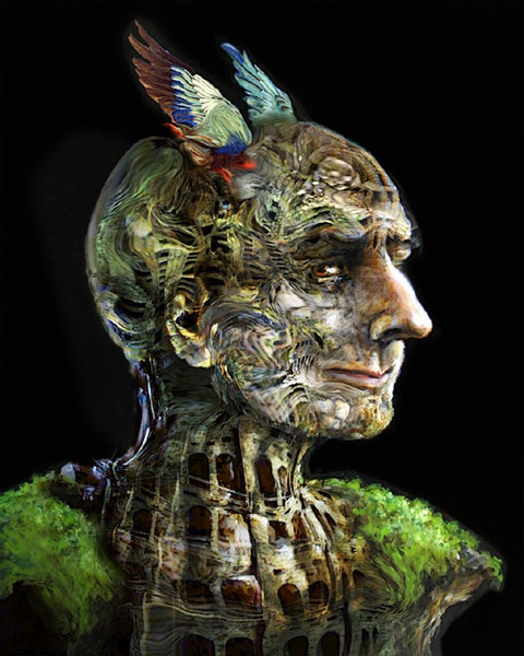 Götter, Digital, Portrait, Malerei, Figur,