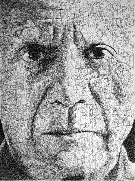 Picasso, Poesie, Text, Portrait, Figural, Schreiben