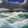 Welle, Marinemalerei, Pastellmalerei, Sturm