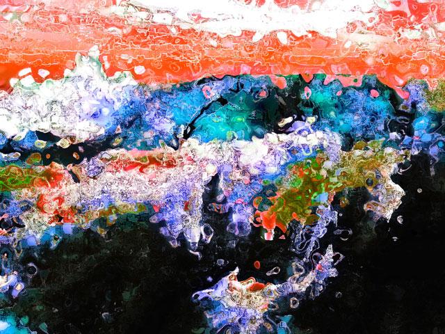 Landschaft, Computergrafik, Rot, Digital, Himmel, Abstrakt