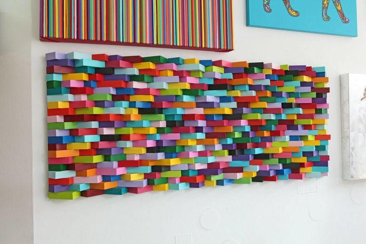 Abstrakt, Kinder, Streifen, Malerei, Welt, Gemälde