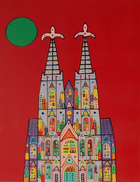 Menschen, Abstrakt, Welt, Kirche, Malerei, Bunt
