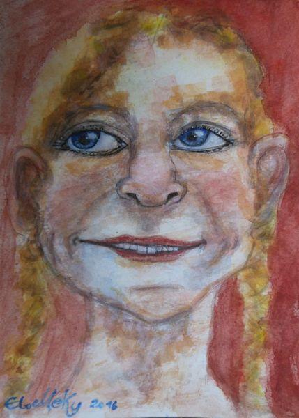 Lachen, Malerei, Berlin, Gefühl, Sommer, Portrait