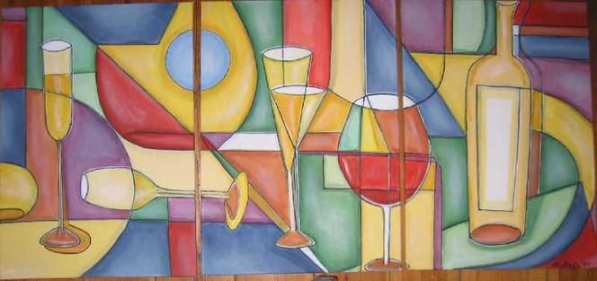 Abstrakt, Dekoration, Flasche, Glas, Berlin, Geometrie