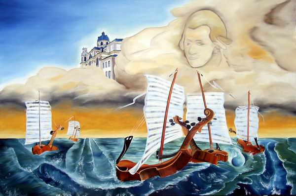 Dom, Musik, Surreal, Quintett, Malerei, Kirche